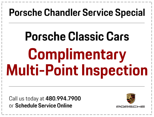 Click to print your Porsche complimentary multi-point inspection service special in Chandler, AZ