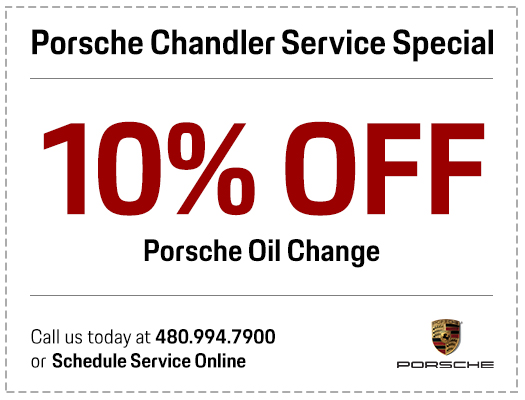 Porsche Oil & Filter Change Service Special in Chandler, AZ