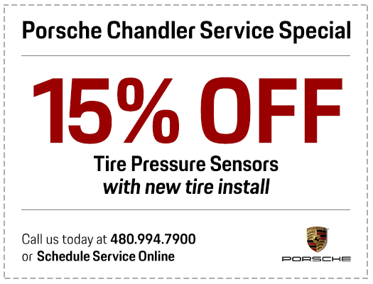 Genuine Porsche Tire Pressure Sensor Replacement Service Special in Chandler, AZ