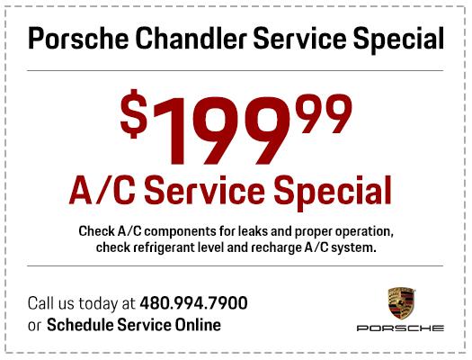 Save with our Genuine Porsche A/C System Service at Porsche Chandler in Chandler, AZ