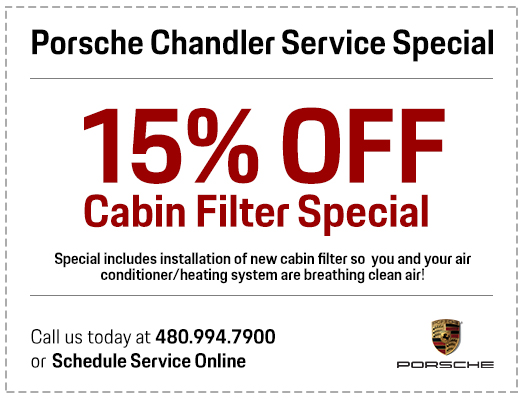 Save with our Genuine Porsche Cabin Air Filter Replacement Service at Porsche Chandler in Chandler, AZ