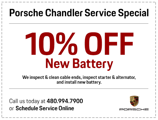 Save with our Genuine Porsche Battery Replacement Service at Porsche Chandler in Chandler, AZ