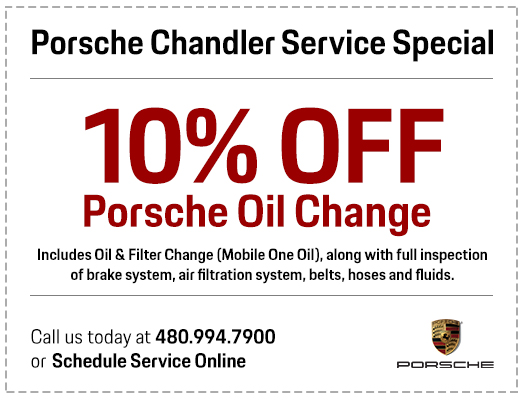 Save with our Genuine Porsche Oil Change Service Special in Chandler, AZ