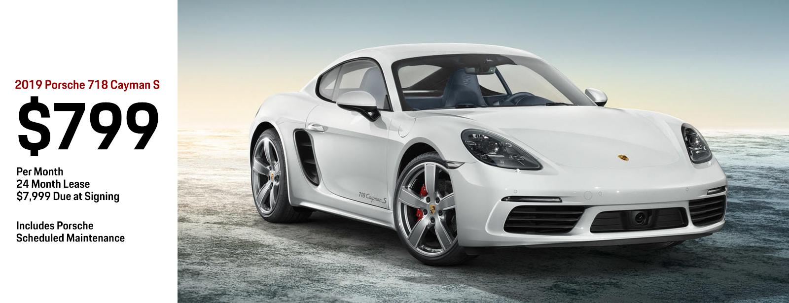 2019 Porsche 718 Cayman S Lease Special in Chandler, AZ