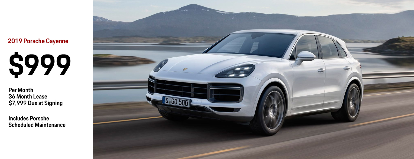 2019 Porsche Cayenne Low Payment Lease Special in Chandler, AZ