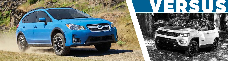 2017 Subaru Crosstrek VS 2017 Jeep Compass Model Comparison serving Orange County, CA
