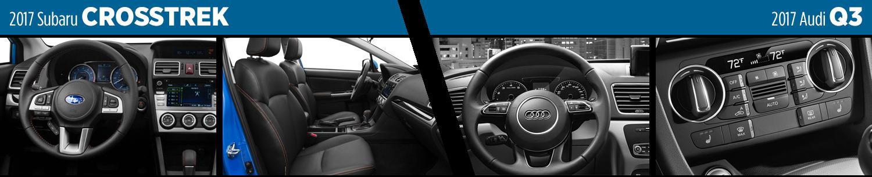 2017 Subaru Crosstrek vs Audi Q3 Interior Model Comparison