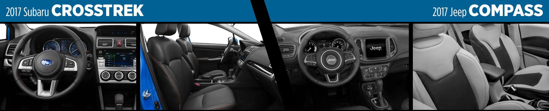 2017 Subaru Crosstrek vs 2017 Jeep Compass Interior Comparison