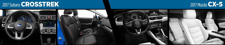 2017 Subaru Crosstrek vs Mazda CX-5 Interior Model Comparison