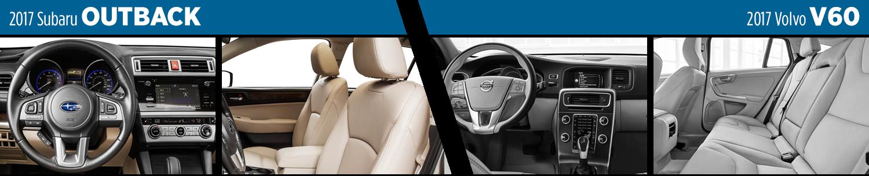 2017 Subaru Outback vs Volvo V60 Wagon Interior Model Comparison