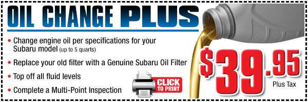 Oil Change Special >> Oil Change Plus Ocean Subaru Of Fullerton