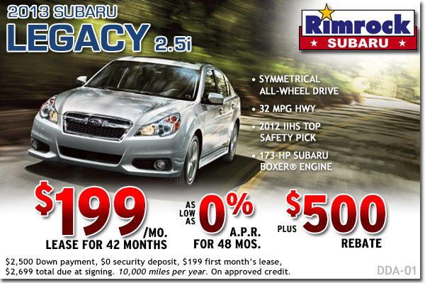 Billings New 2013 Subaru Legacy 2.5i Sales & Lease Special Discount Offers serving Montana