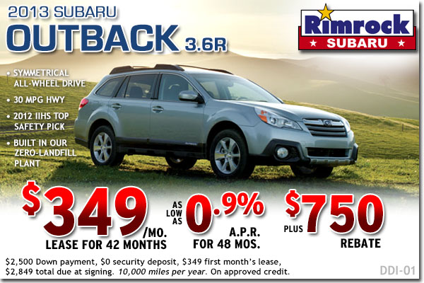 Billings 2013 Subaru Outback 3.6R Sales & Lease Special Offers serving Montana