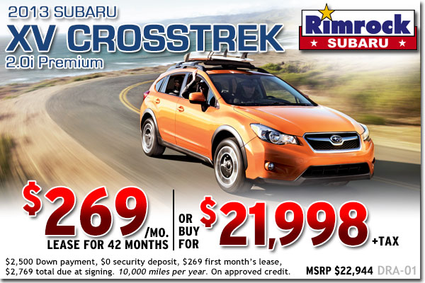 New 2013 Subaru XV Crosstrek 2.0i Premium Sales & Lease Special Offers serving Billings, Montana