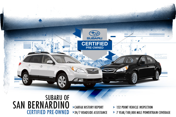 San Bernardino Subaru Certified Pre-Owned Vehicles