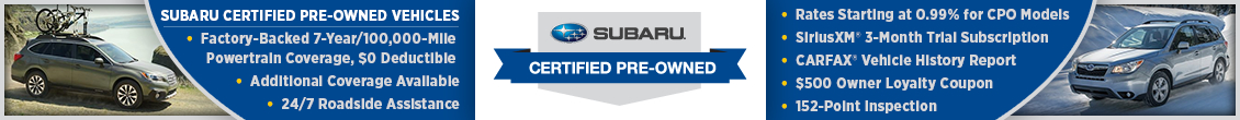 Subaru Certified Pre-Owned Benefits