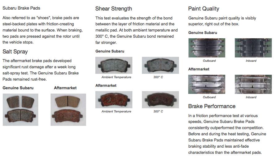 Brake Pads And Rotors Prices >> Genuine Subaru Brake Pad And Rotors Sacramento Subaru Parts