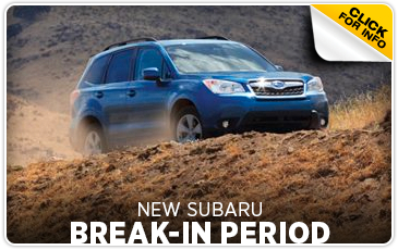 Click to view our Break-In New Subaru Service FAQ serving Sacramento, CA