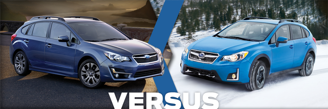 2016 Subaru Impreza 5 Door Vs 2016 Subaru Crosstrek Model