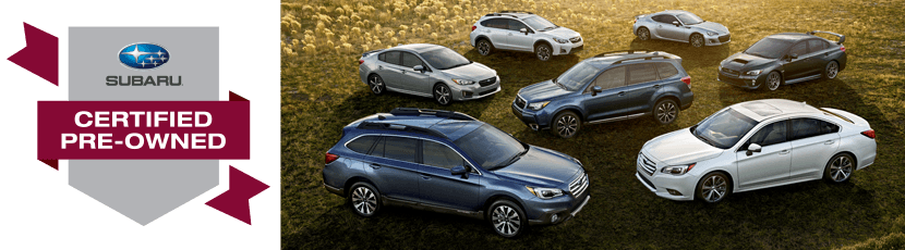 Subaru Certified Pre-Owned Vehicle Promotion serving Sacramento, CA