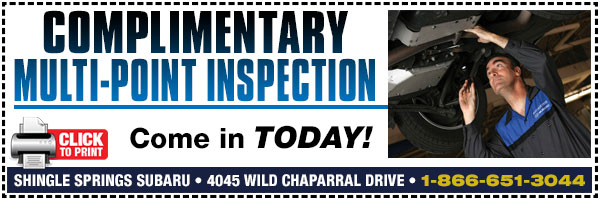 Subaru Multi Point Inspection Free Service Special