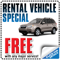 Free rental vehicle with major Subaru service at Shingle Springs Subaru serving Sacramento, CA