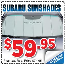 Click to view our Subaru Genuine Subaru Sunshade parts special serving Sacramento, CA