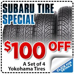 Click to save with our Subaru tire parts special serving Sacramento, CA
