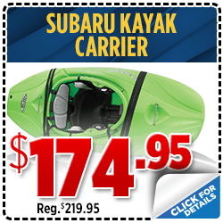 Click to save with our kayak carrier parts special at Shingle Springs Subaru serving Sacramento, CA