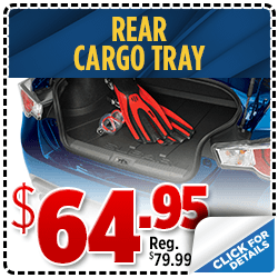 Click to save with our rear cargo tray parts special at Shingle Springs Subaru serving Sacramento, CA