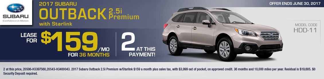 2017 Subaru Outback 2.5i Premium w/Starlink Lease Special in Shingle Springs, CA