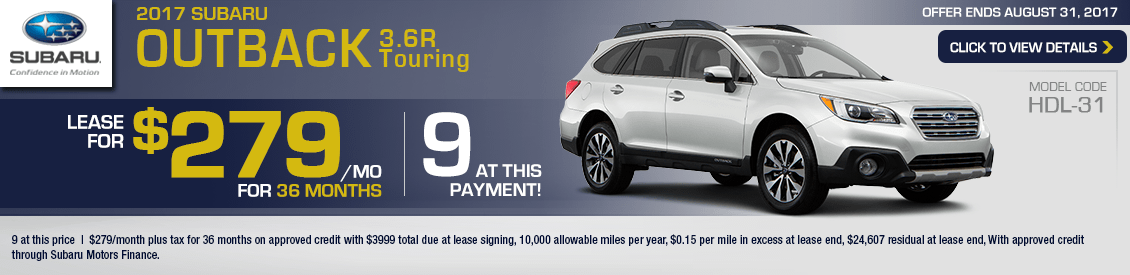 2017 Subaru Outback 3.6R Touring Lease Special in Shingle Springs, CA