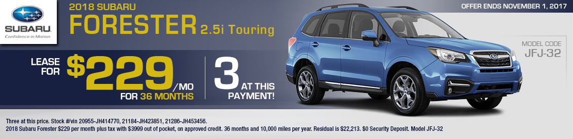 2018 Subaru Forester 2.5i Touring Lease Special in Shingle Springs, CA