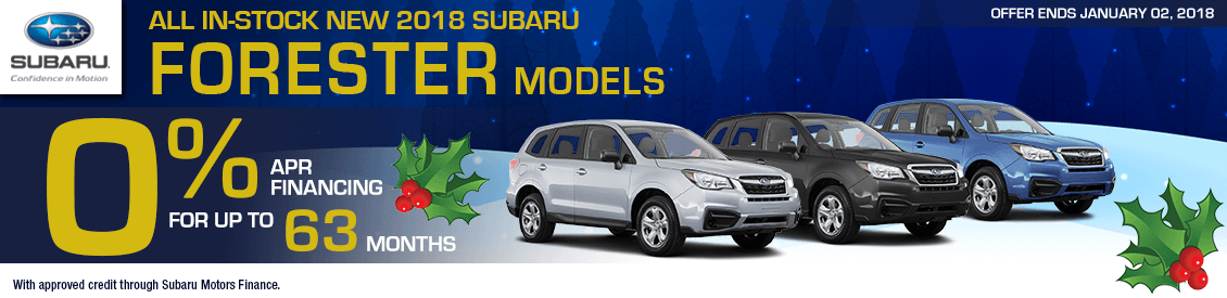 2018 Subaru Forester 0% rate for 63 months Financing Special in Shingle Springs, CA