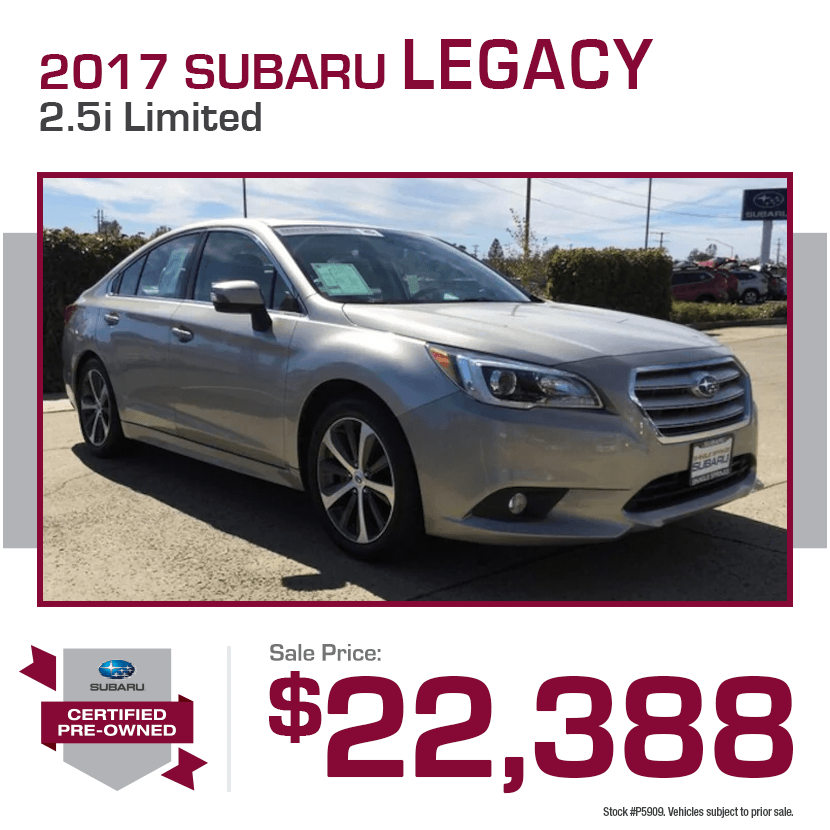 2017 CPO Subaru Legacy 2.5i Limited Special in Shingle Springs, CA