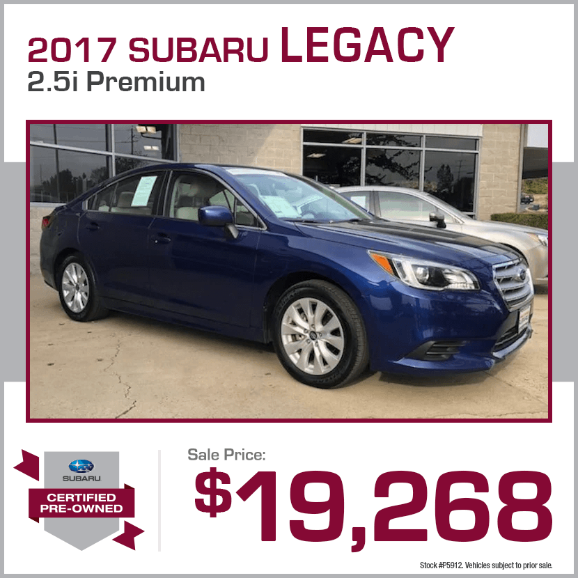 2017 CPO Subaru Legacy 2.5i Premium Special in Shingle Springs, CA