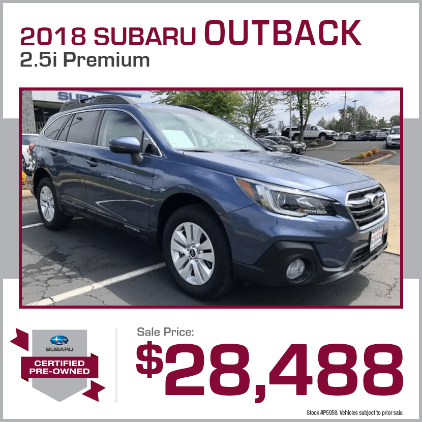 2018 CPO Subaru Outback 2.5i Premium Special in Shingle Springs, CA