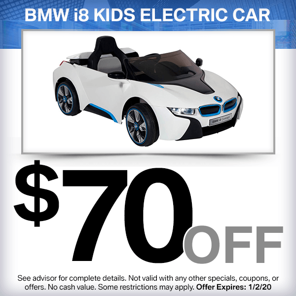$70 off BMW i8 kids electric car Parts Special in Huntington Beach, CA