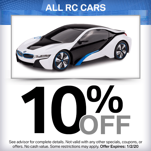 10% off all RC cars Parts Special in Huntington Beach, CA
