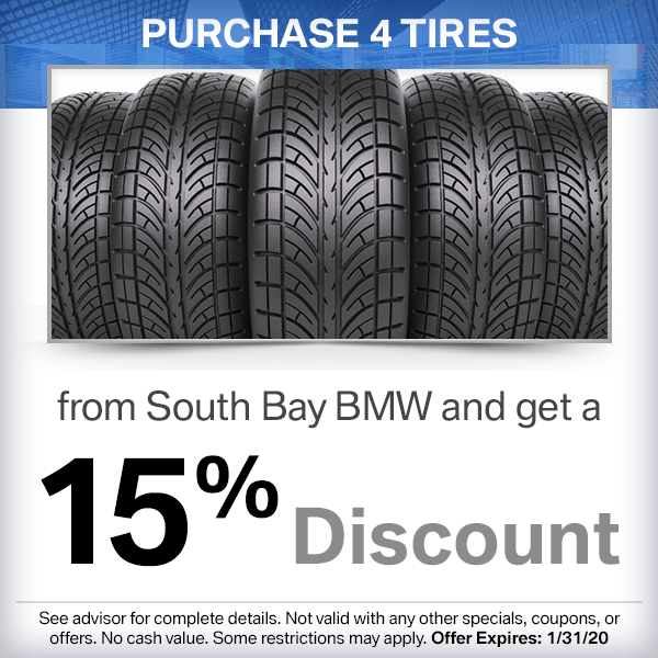 Purchase 4 Tires From South Bay BMW and Get a 15% Discount
