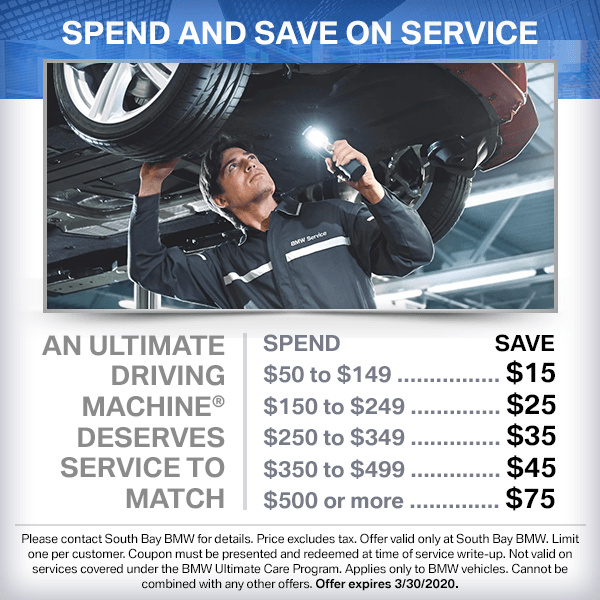 SPEND AND SAVE ON SERVICE TO GET YOUR BMW IN PEAK CONDITION FOR SPRING DRIVING in Torrance, CA