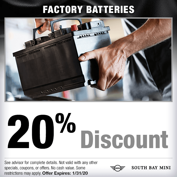 20% discount on factory batteries Parts Special