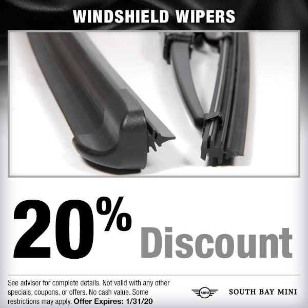20% discount on wipers Parts Special