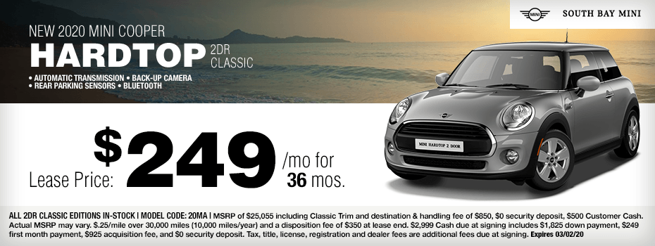 2020 MINI Cooper 2dr Hartop Special Lease Savings in Torrance, CA