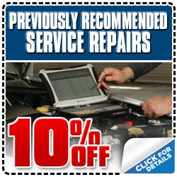 Subaru Previously  Recommended Service Repair Special Discount Coupon serving Los Angeles,  California