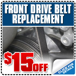 Subaru Front Drive Belt Replacement Service Discount  Coupon, Los Angeles, Pasadena, Santa Monica, San Fernando