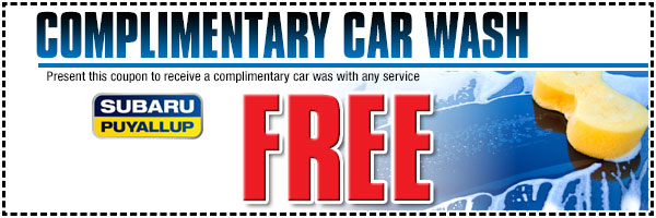 Puyallup Subaru Free Car Wash Service Special serving Seattle, WA