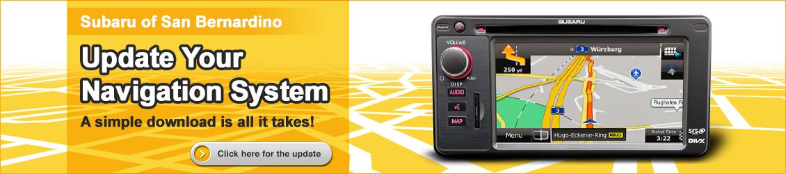 Subaru Navigation System Updating Information provided by Subaru of San Bernardino