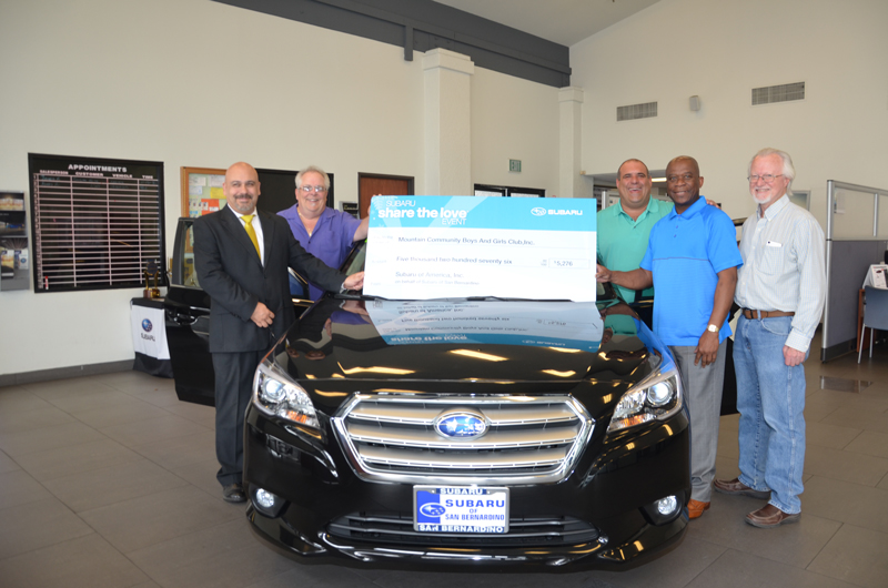 Subaru of San Bernardino supports the Boys & Girls Club