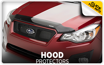 Click to learn more about genuine Subaru hood protectors available at Subaru of San Bernardino, CA